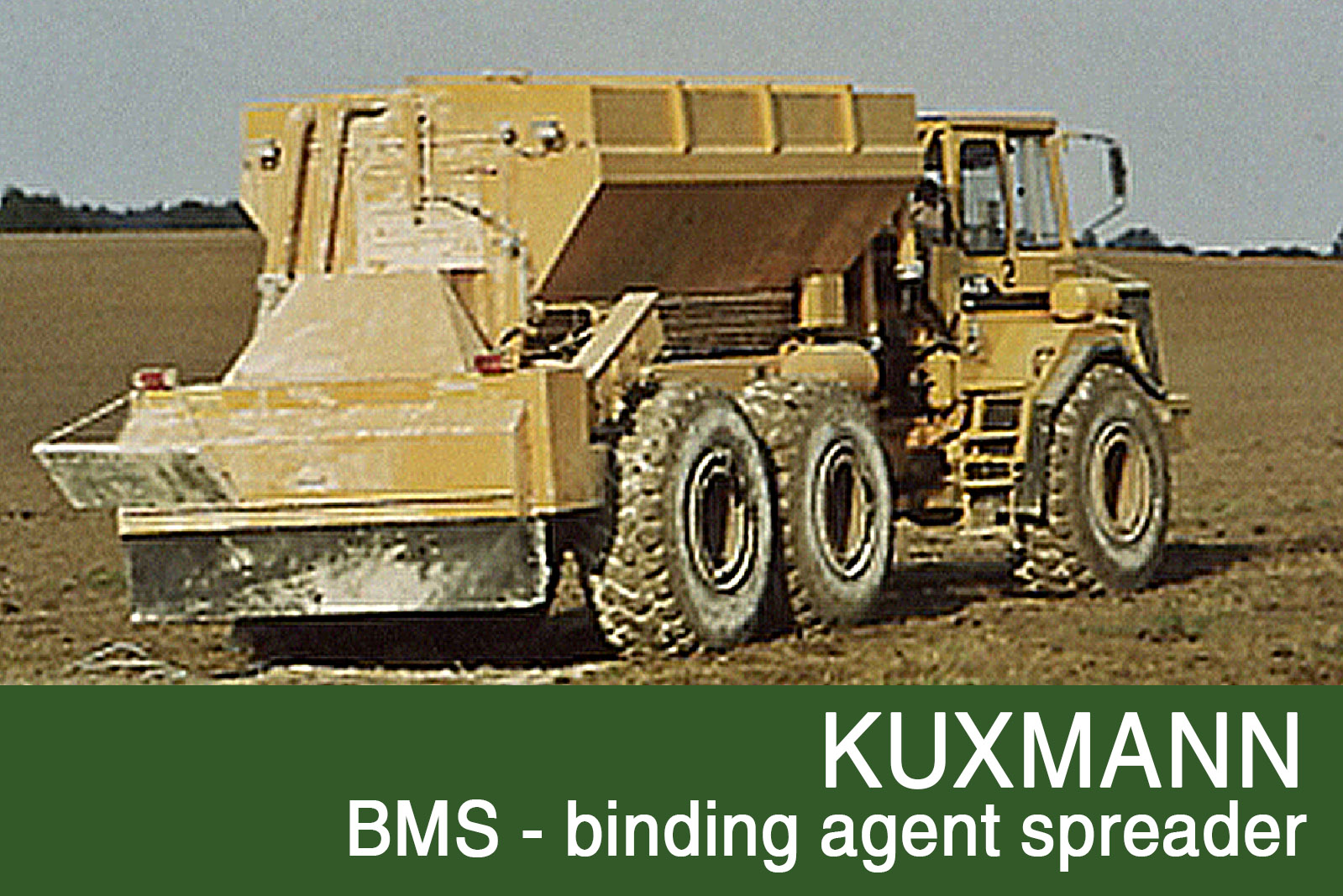 BMS Binding agent spreader truck mounted