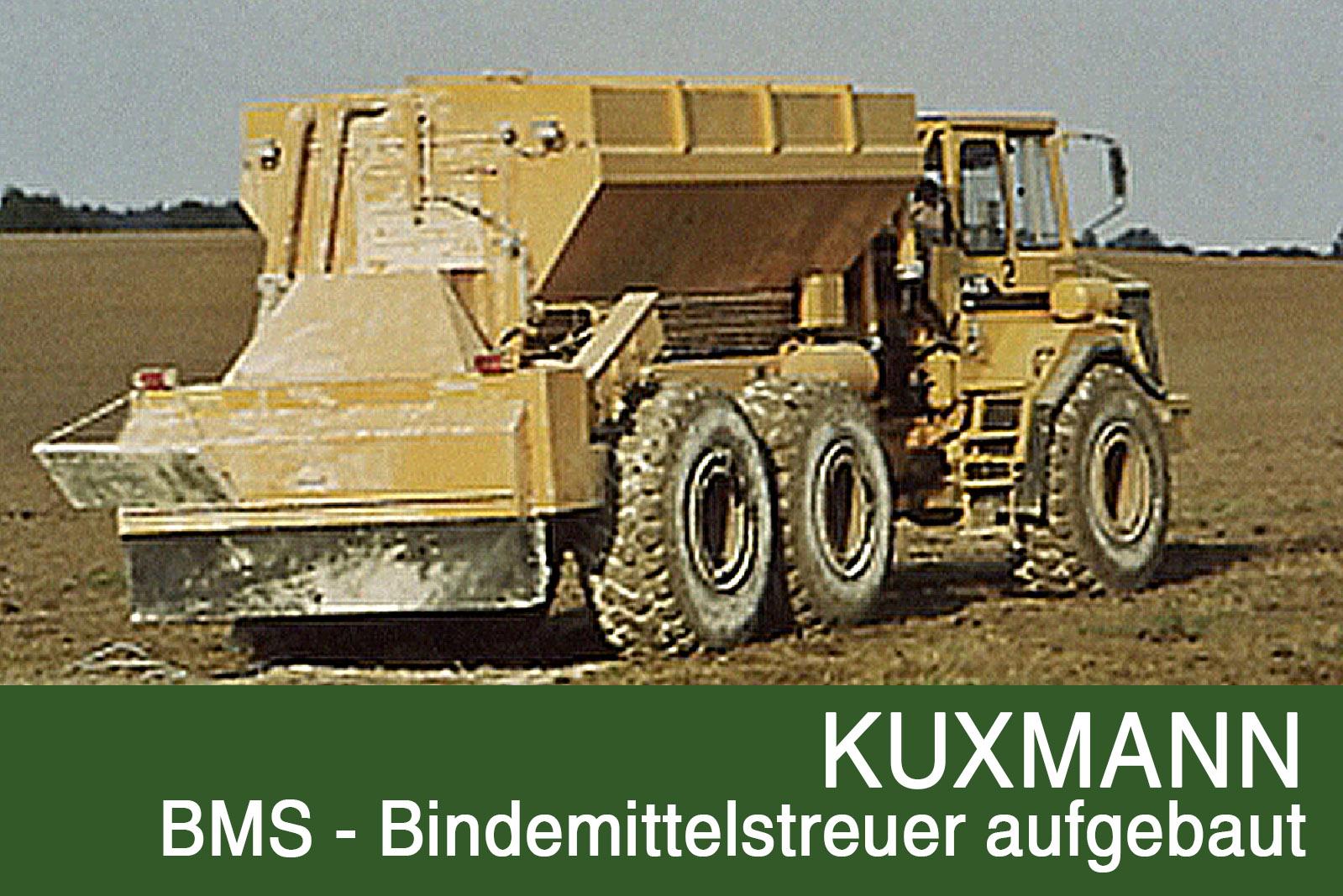 BMS Bindemittelstreuer aufgebaut